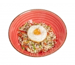 Rice with vegetables and egg