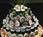Sushi cake for an impressive holiday!
