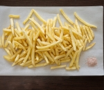 French fries with salt