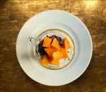 Coconut black rice pudding with sweet potato