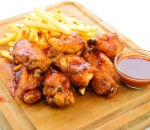 Wings with BBQ sauce