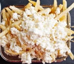 Fresh french fries with cheese