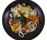Udon with beef and vegetables