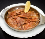 Beef tongue stewed in butter
