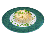 Risotto with chicken, mushrooms and cream