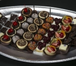 Plate of sweet bites of assorted