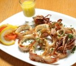 Tuch squid with lemon dressing