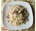 115. Fried rice with three types of meat, peas and carrots