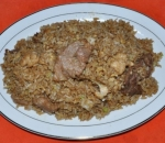 540. Fried rice with three types of meat and vegetables
