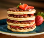 American Pancakes with Nutella, Mascarpone and Strawberries