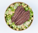 Caesar salad with BLACK ANGUS veal ripe for 60 days (DRY-AGED)