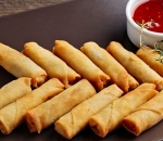 Spring rolls with sweet chili