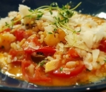 Risotto with octopus and shrimp