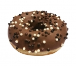 Donut with milky chocolate