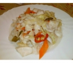 8a. Salad of sweet-hot cabbage