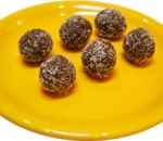 Raw energy balls with coconut, dried fruits and nuts