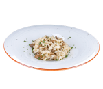 Risotto with porcini mushrooms and parsley
