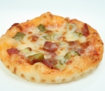 Pizzetti with salami, pickles, cheese and tomato sauce