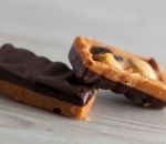 Snickers with peanut butter and culinary chocolate