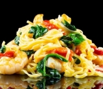 Shrimps fettuccine