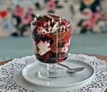Black Forest cake in a bowl