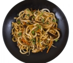 Udon with chicken