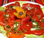 ROAST MARINATED RED PEPPERS