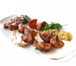 Pasha kebab with chicken meat