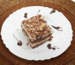 Biscuit cake with vanilia