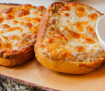Toast with cheese and yellow cheese