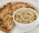 Granny Ganush with chickpeas and greek bread