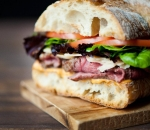 Sandwich with veal and french fries