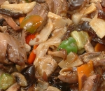 63. Pork with Chinese mushrooms and bamboo