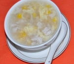 25. Chicken soup and corn