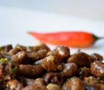 Chicken hearts with butter and spices