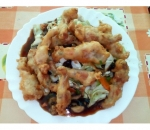 209. Fried frog legs with vegetables
