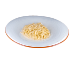 Linguini fresh pasta with four cheeses