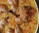 Chicken leg with baked rice