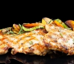 Juicy chicken steak