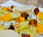 Iceberg lettuce with cheese and dried figs