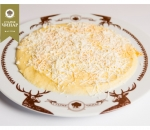 Polenta with butter and white cheese