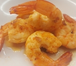 Vanamei shrimp with garlic in olive oil and white wine