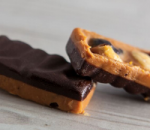 Sneakers with peanut butter and culinary chocolate