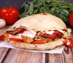 Oven sandwich with spicy salami
