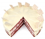 Red velvet cake whole (10 pieces)