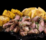 Black Angus with roasted corn