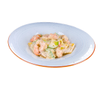 Ravioli with ricotta and spinach with shrimp