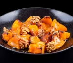Roasted pumpkin with honey and walnuts
