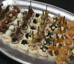 Plate of salty bites of assorted