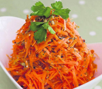 Carrots with seed mix